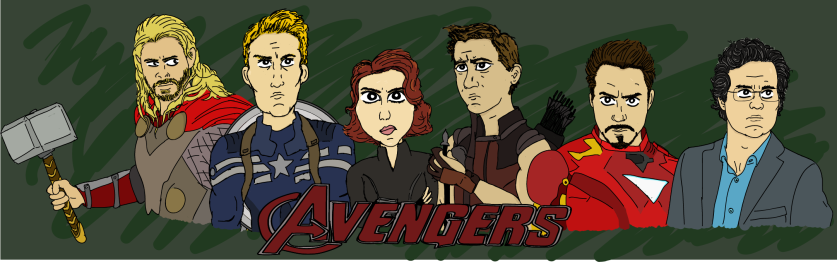 marvel cartoon drawing